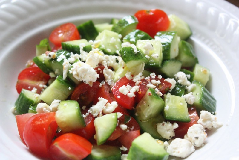Summer Cucumber Salad with Tomatoes and Feta | Maine Military Mama's
